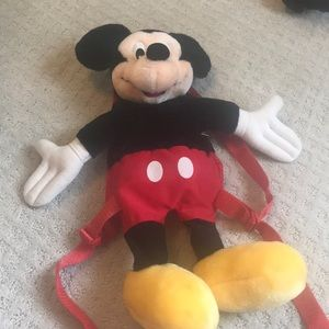 Plush Mickey Mouse back pack